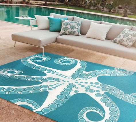 Another Eye Drawing Rug With A Really Cool Design Is This Stunning Octopus  Rug. Unlike Most Octopus Decor, This One Is Positioned From The Bottom  View, ...