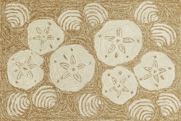 Sand Dollar Shaped Rug