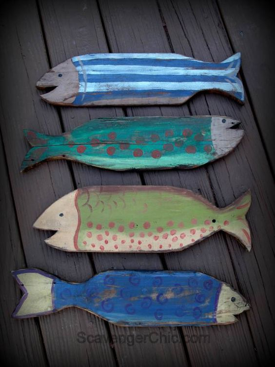 7 Wooden Fish Wall Decor Ideas For Your Beach House Beach Bliss Living