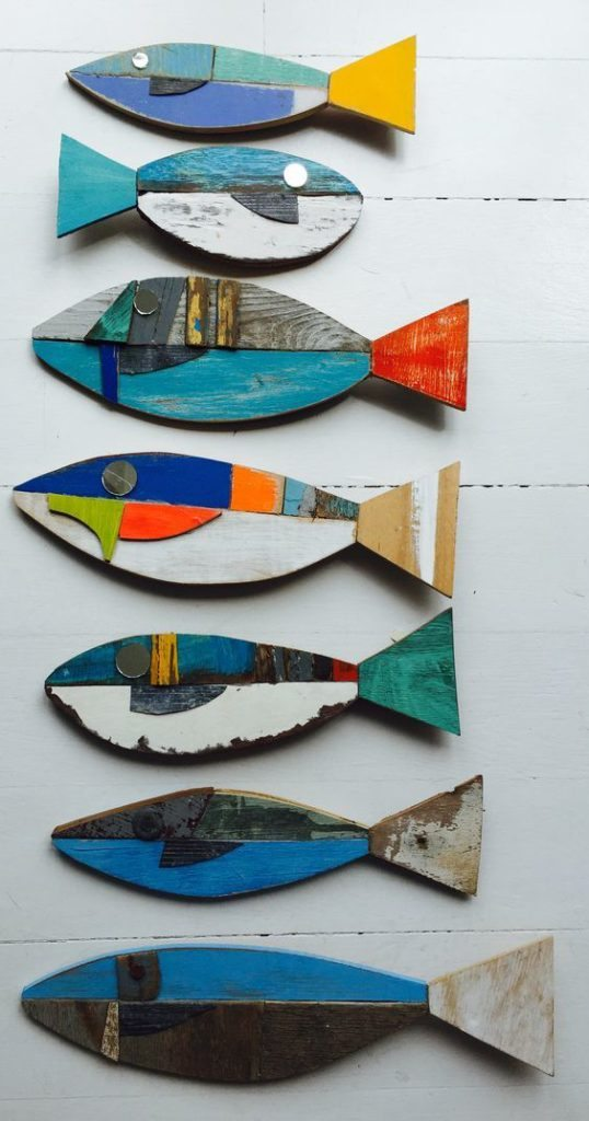 Wooden Fish Wall Art