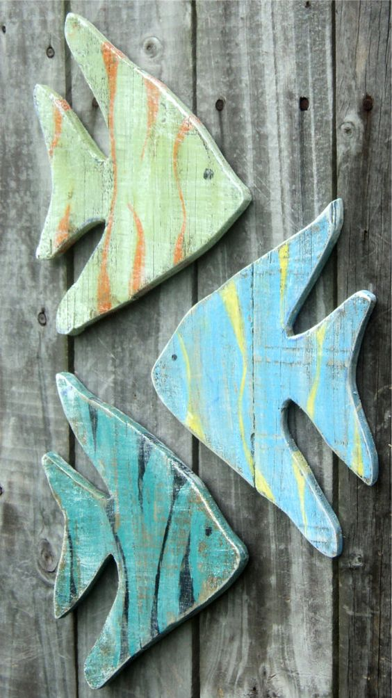 Wall Decor With Fish : Wooden fish wall decor ideas for your beach house