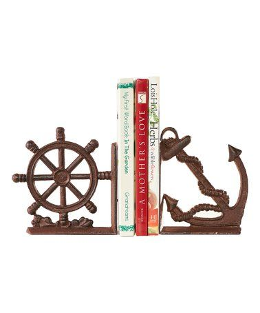 anchor and wheel bookends