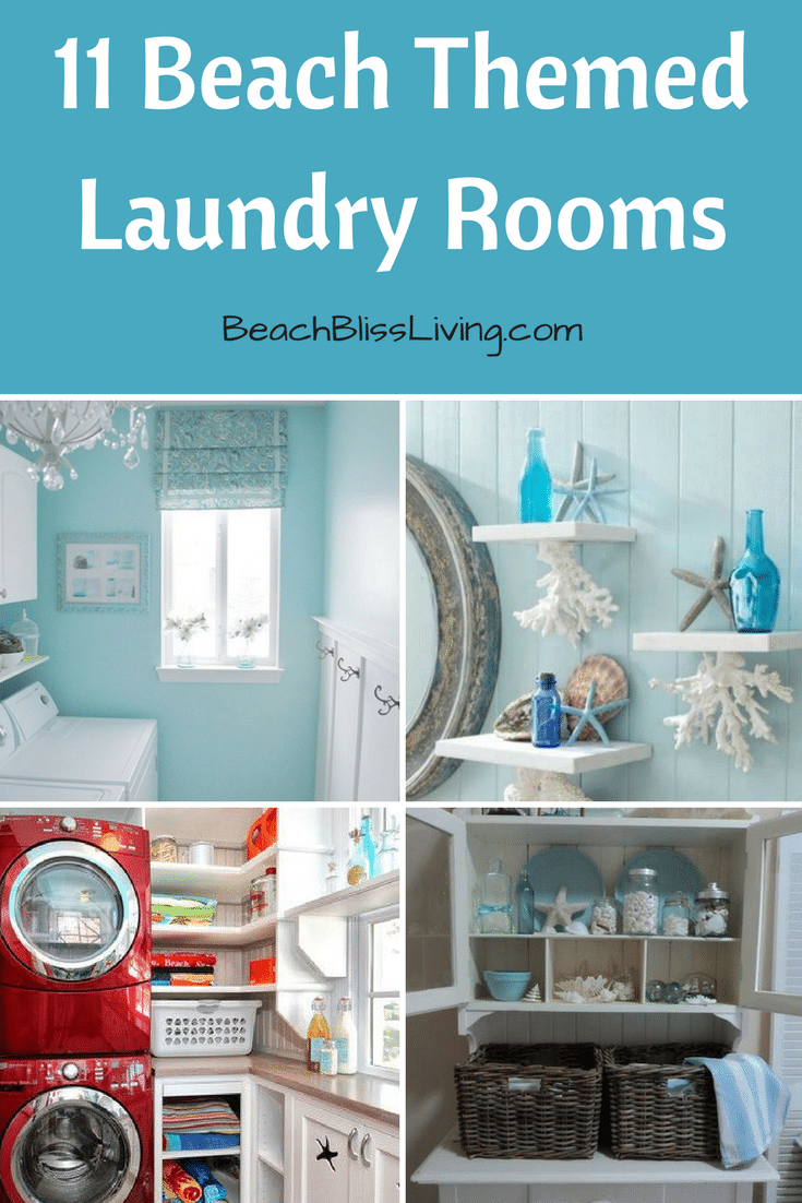 11 Beach Themed Laundry Rooms Beach Bliss Living