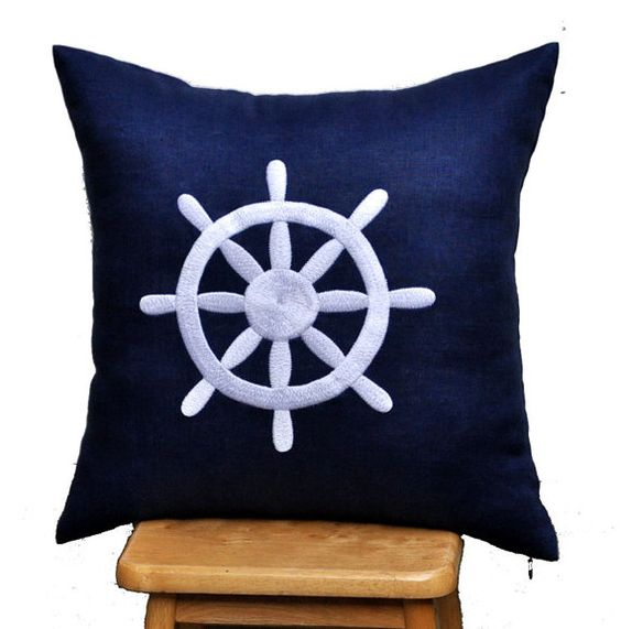 ships wheel pillow cover