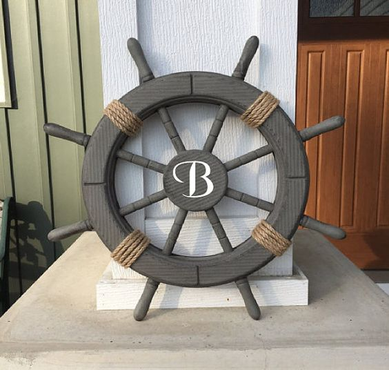 ship wheel with initial