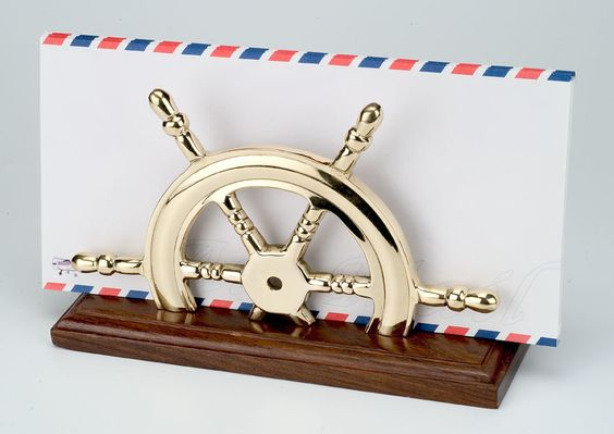 ship wheel letter holder