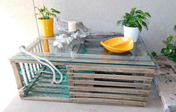lobster trap coffee table