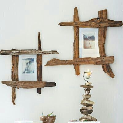 picture frames made from driftwood